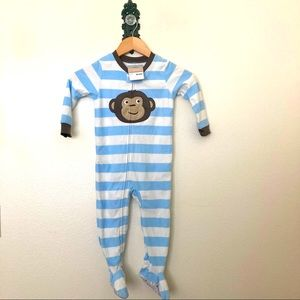 Carter's Baby Boy Monkey Footed Pajamas NWT